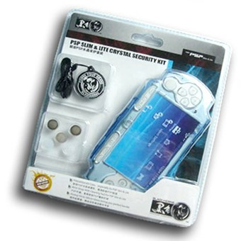 PSP Slim & Lite Crystal Security Kit (white/blue/black) (BH-PSP02614)