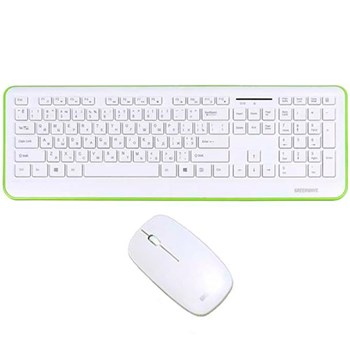 Клавиатура+мышь GREENWAVE Nano 817 Set white-green wireless